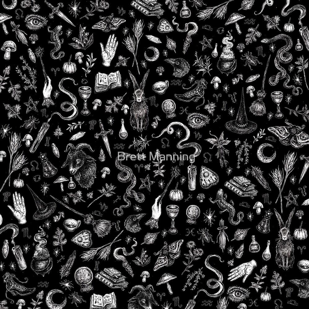 « Salem Witch en noir » par Brett Manning