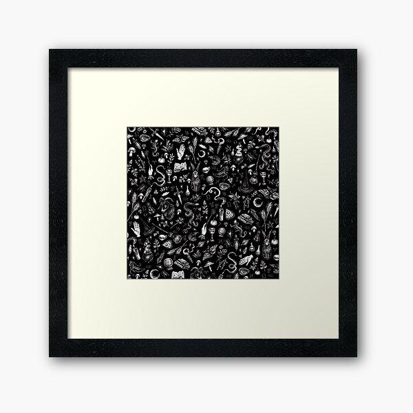Salem Witch in Black Framed Art Print