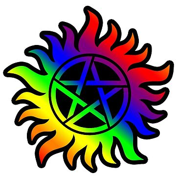 anti posession pride supernatural  by MistyFigs