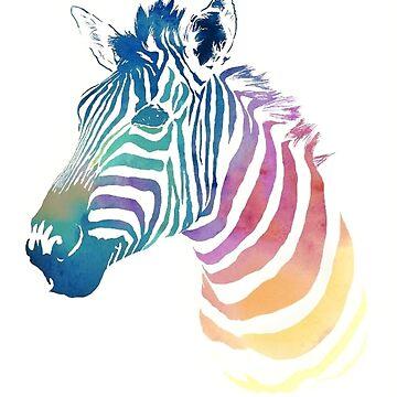 Pastel Zebra by RachelTilley