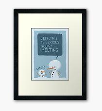 Snowmanity - Jeff Framed Print