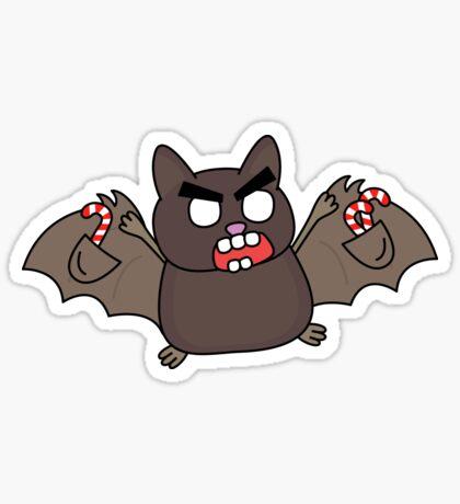 angry zombie bat Glossy Sticker