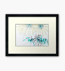 Invereted Fireworks Framed Print