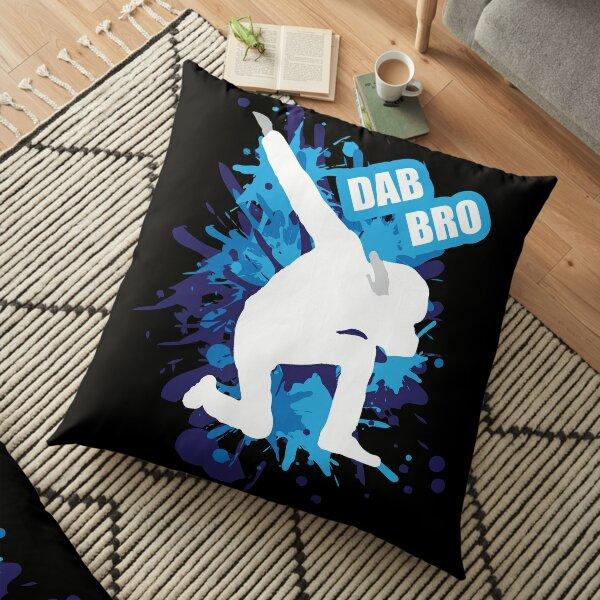 Dab on em Blue Floor Pillow