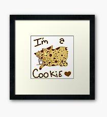 I´m a cookie Framed Print