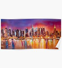 Vibrant New York City Skyline Poster