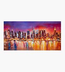 Vibrant New York City Skyline Photographic Print