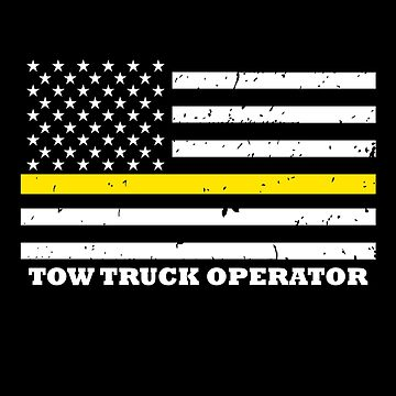 Thin Yellow Line Flag Tow Truck Operator by bluelinegear