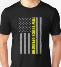 Tow Truck Operator Thin Yellow Line Flag Unisex T-Shirt