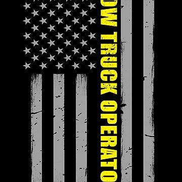 Tow Truck Operator Thin Yellow Line Flag by bluelinegear