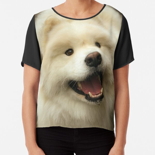 Samoyed Smile Chiffon Top
