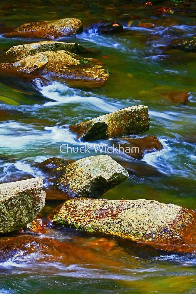 BOULDERS,LITTLE RIVER by Chuck Wickham