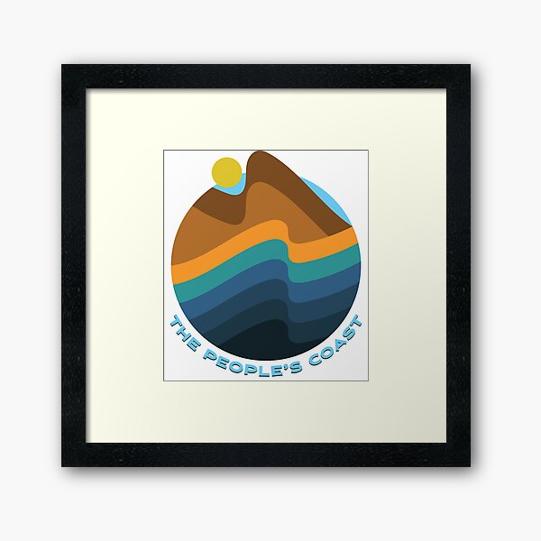 Oregon - The People's Coast Framed Art Print