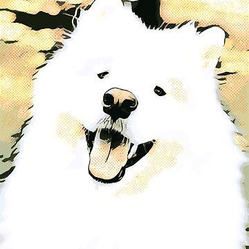 Happy Samoyed by ryderthesamoyed