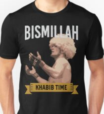 Khabib Nurmagomedov Bismillah The Eagle UFC MMA Muslim Fighter Unisex T-Shirt