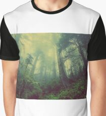 Mysterious Forest Fantasy World Misty Woods Graphic T-Shirt