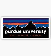 Purdue University - Preppy Sunset Sticker