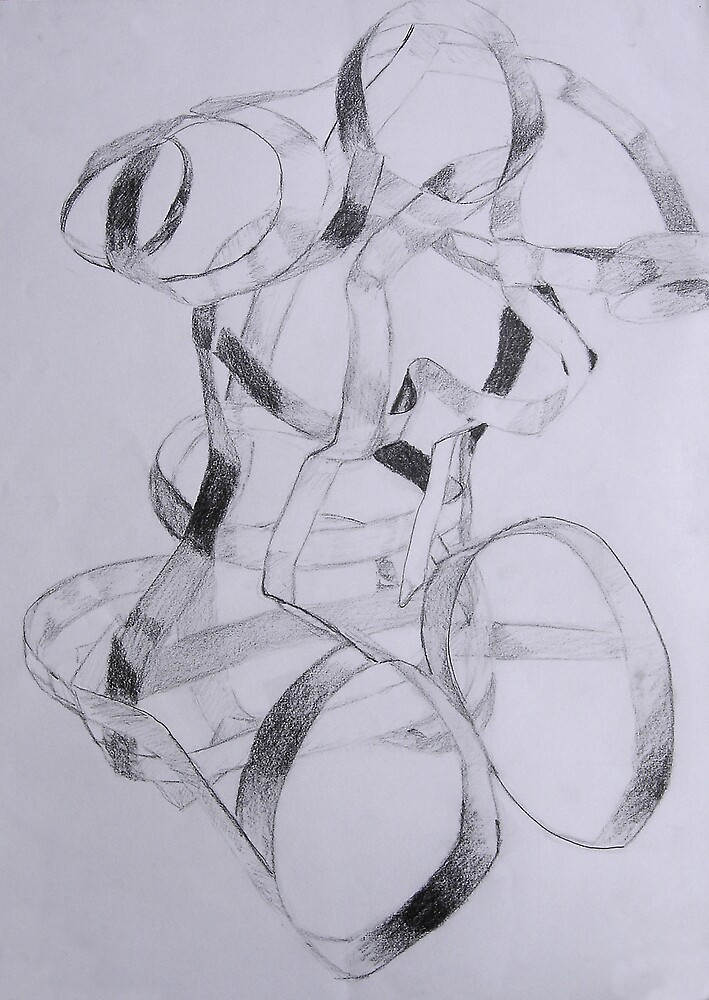 Sculpture Drawing by Marilyn Brown