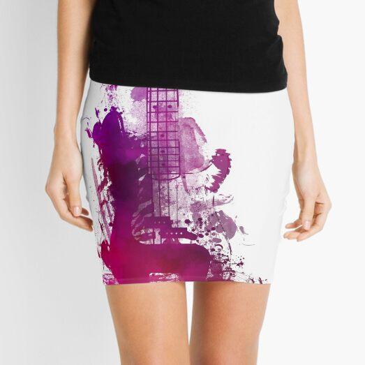 Funky purple guitar Mini Skirt