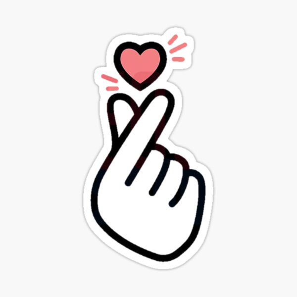 Korean Finger Heart Version 5 (mini design pour chemises) Sticker