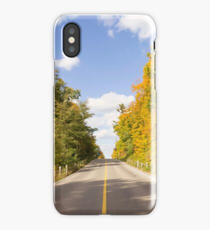 Autumn Road to Nowhere 2 iPhone Case