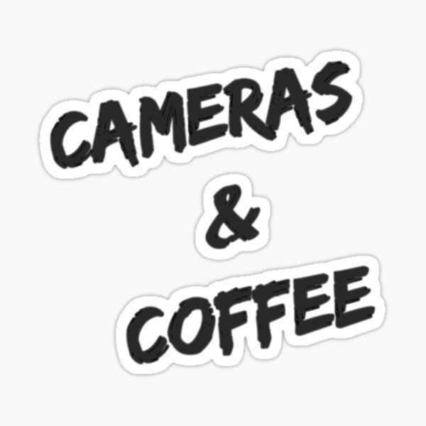 Cameras & Coffee Sticker