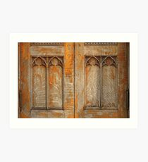 Half a Church Door, Mostly Worn Art Print