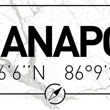 The longitude and latitude of Indianapolis by efomylod
