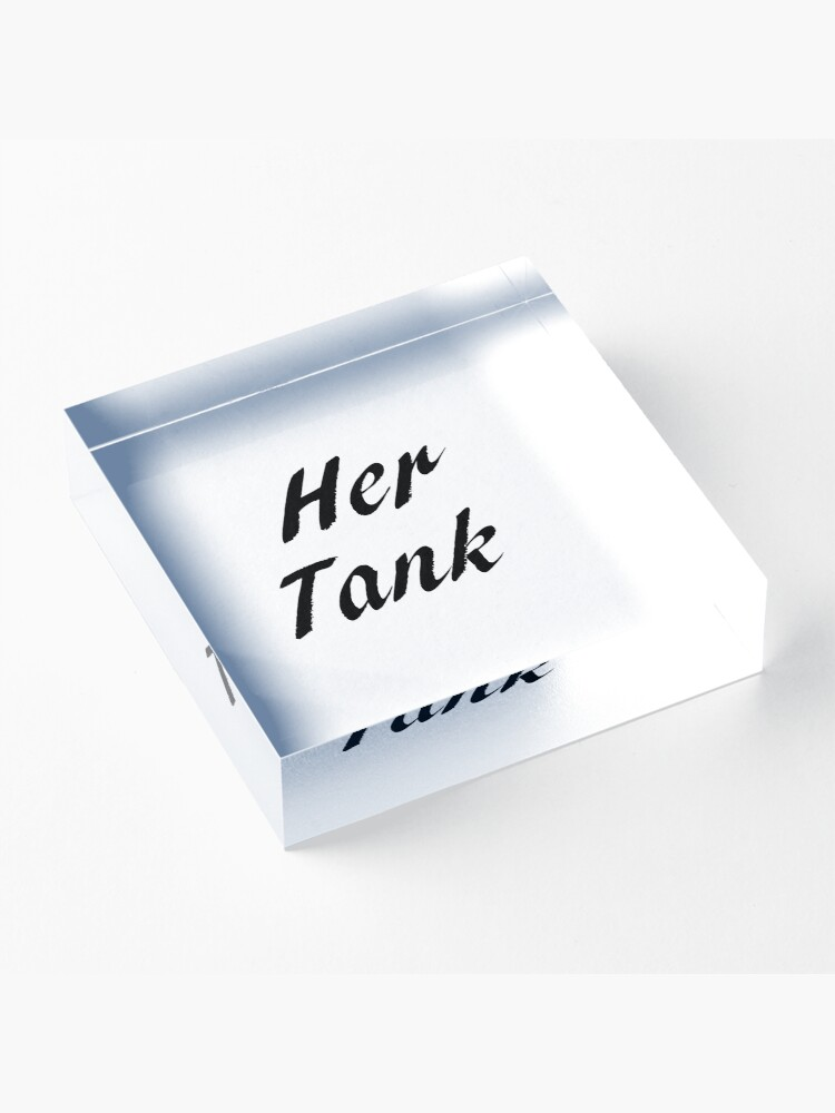 Alternate view of His & Hers - Her Tank Acrylic Block