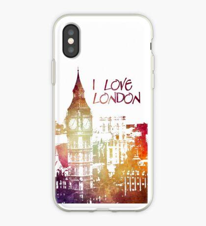 I love London iPhone Case