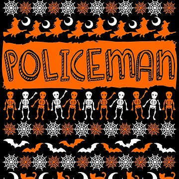 Cool Policeman Ugly Halloween Gift t-shirt by BBPDesigns