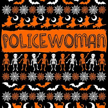 Cool Policewoman Ugly Halloween Gift t-shirt by BBPDesigns