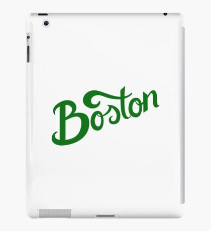 Boston White Hand Lettering iPad Case/Skin