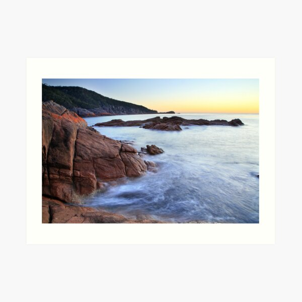 Sleepy Bay Sunrise, Freycinet Peninsula, Tasmania, Australia Art Print