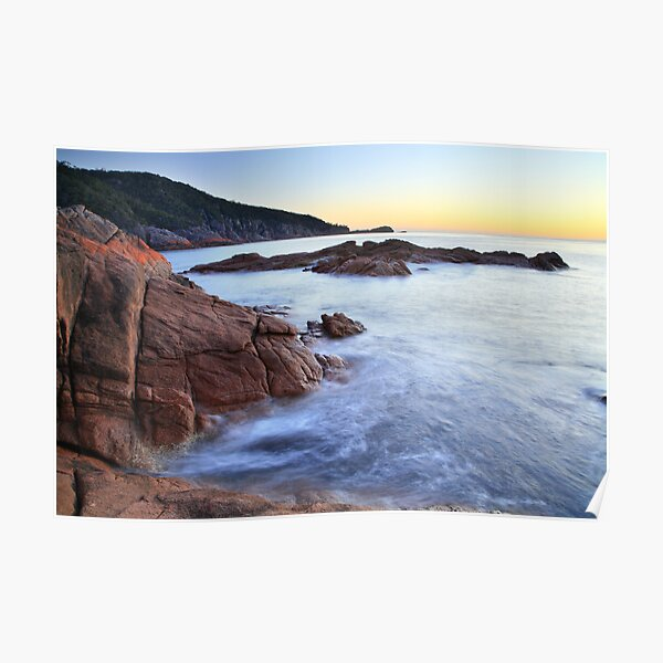 Sleepy Bay Sunrise, Freycinet Peninsula, Tasmania, Australia Poster