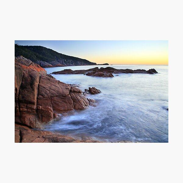 Sleepy Bay Sunrise, Freycinet Peninsula, Tasmania, Australia Photographic Print