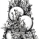 Greenery, Ink Drawing by Danielle Scott
