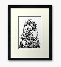 Greenery, Ink Drawing Framed Print