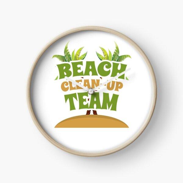 Beach Clean-Up Team Coast Cleanup Clock