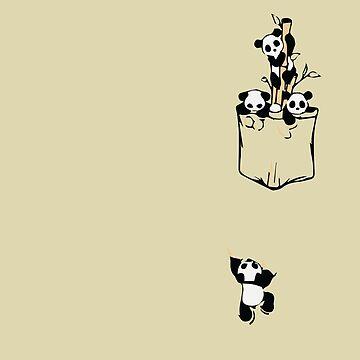 Poket Cute Little Panda by overstyle