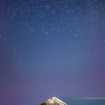Starry sky over mountain by EliaCoan