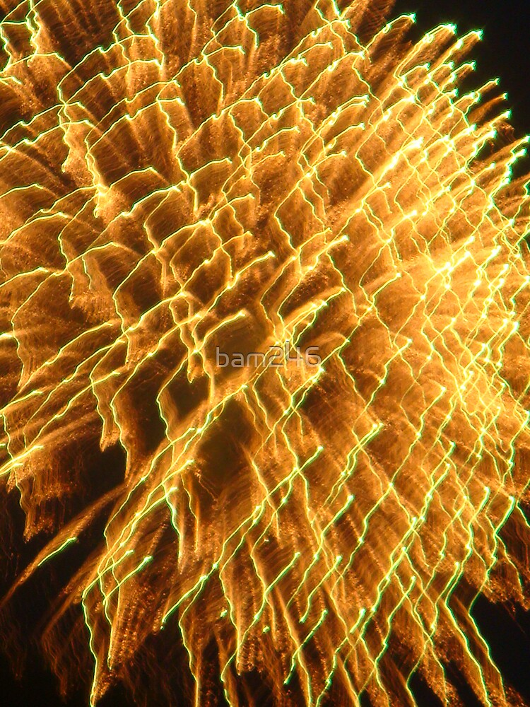 Yellow Summer Fireworks by bam246