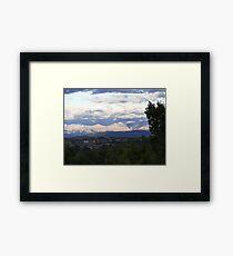 Sunshine On The Rockies Framed Print