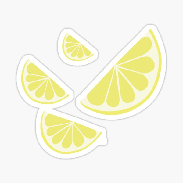 Lemon wedge Sticker