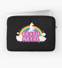 DEATH METAL! (Funny Unicorn / Rainbow Mosh Parody Design) Laptop Sleeve