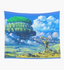 Laputa the castle in the sky Wall Tapestry