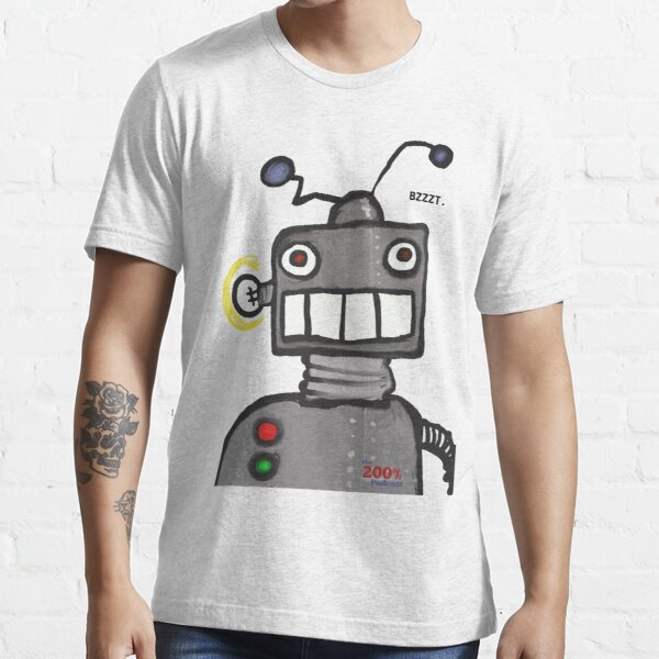 The 200% Podcast Robot t-shirt Essential T-Shirt