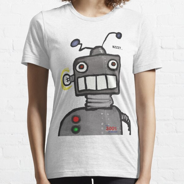 The 200% Podcast Robot t-shirt Essential T-Shirt