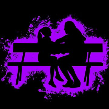 Silhouette child purple and black silhouette by VincentW91