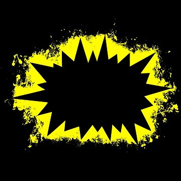 Bang explosion yellow and black silhouette by VincentW91